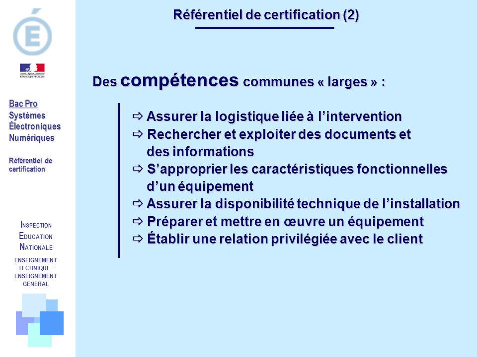 Référentiel de certification (2)