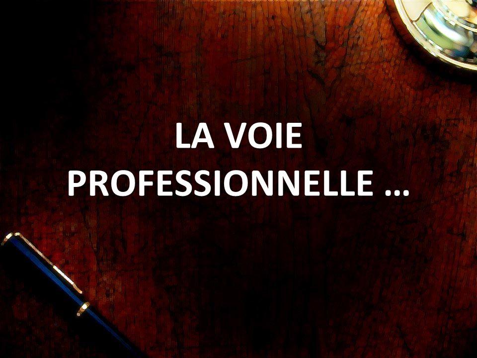 La Voie PROFESSIONNELLE …
