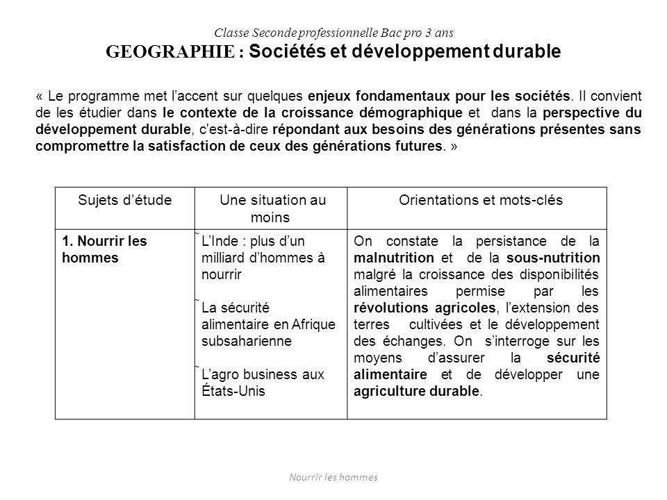 GEOGRAPHIE : Sociétés et développement durable