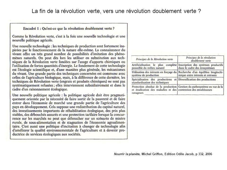 La fin de la révolution verte, vers une révolution doublement verte