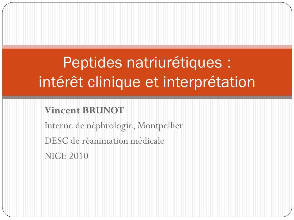 Peptides natriurétiques : intérêt clinique et interprétation