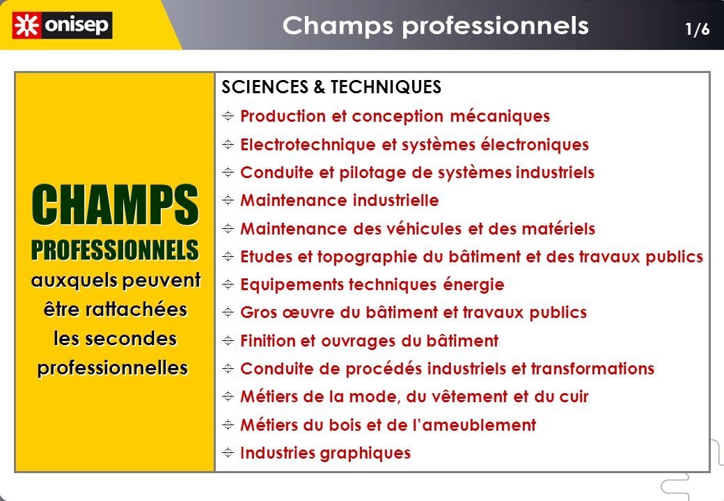 Champs professionnels