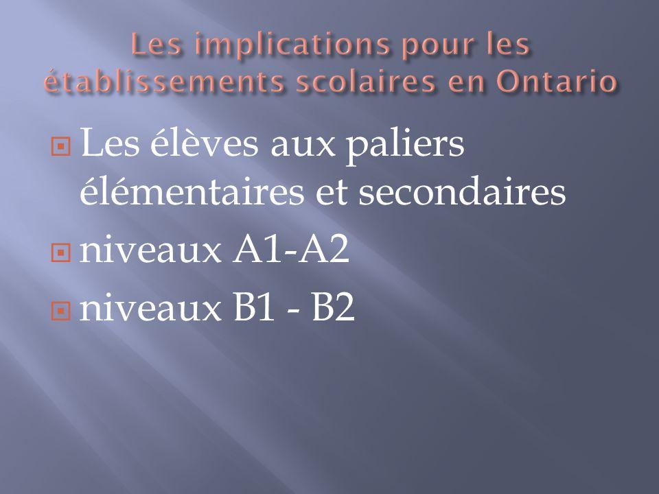 Les implications pour les établissements scolaires en Ontario