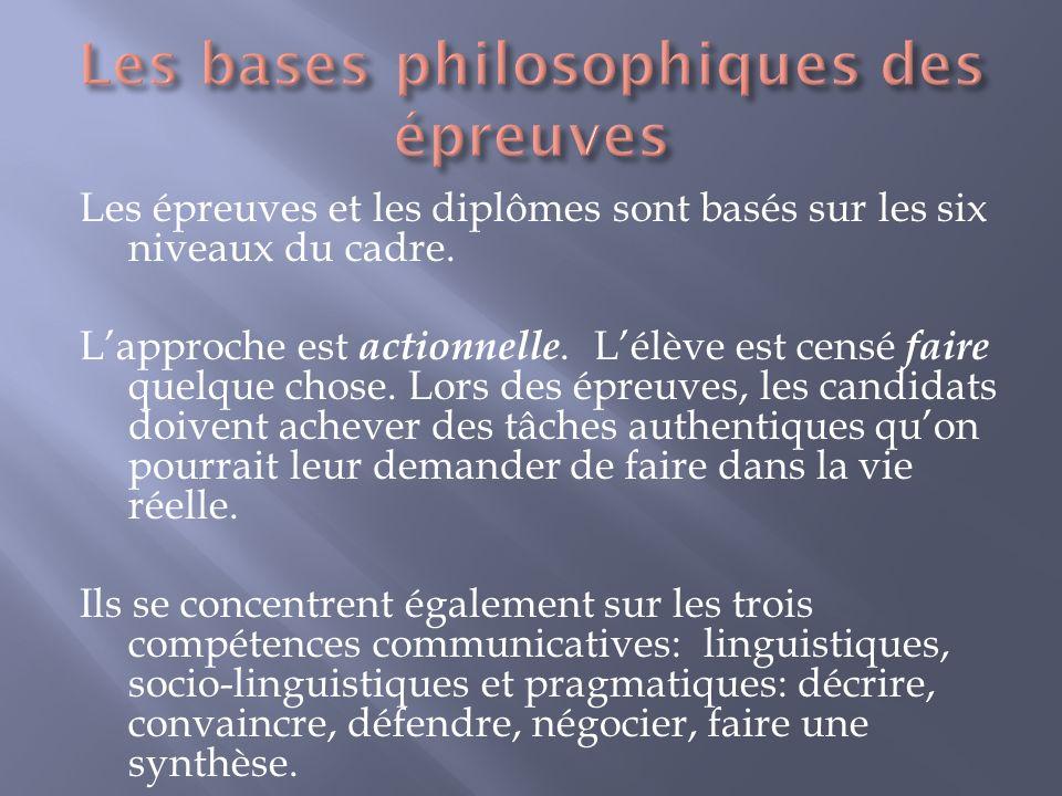 Les bases philosophiques des épreuves