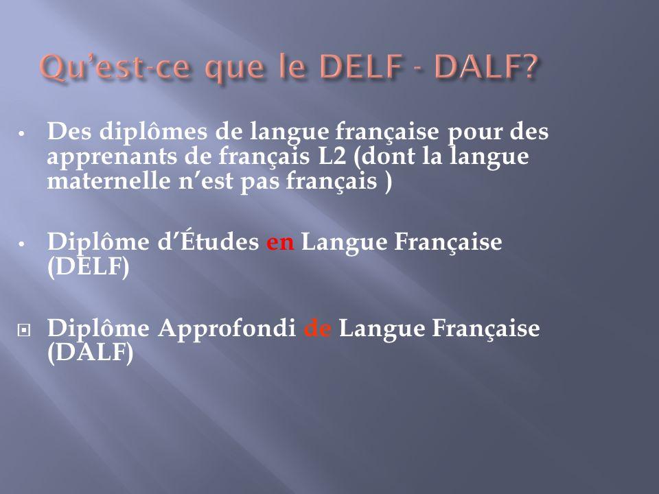 Qu'est-ce que le DELF - DALF