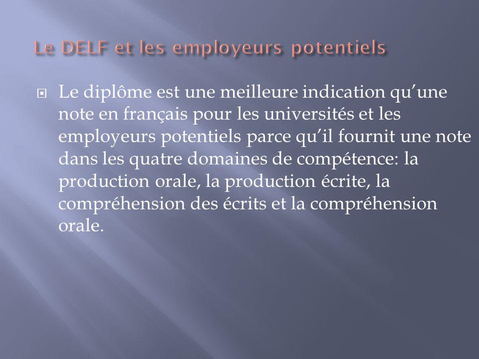 Le DELF et les employeurs potentiels