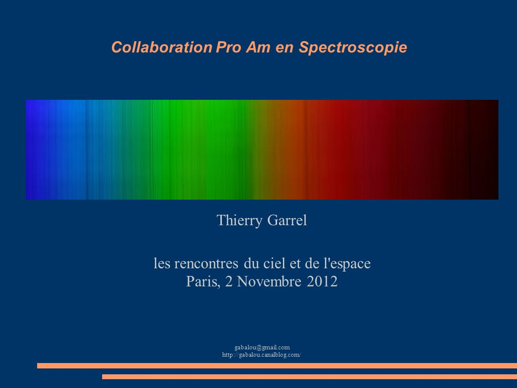 Collaboration Pro Am en Spectroscopie