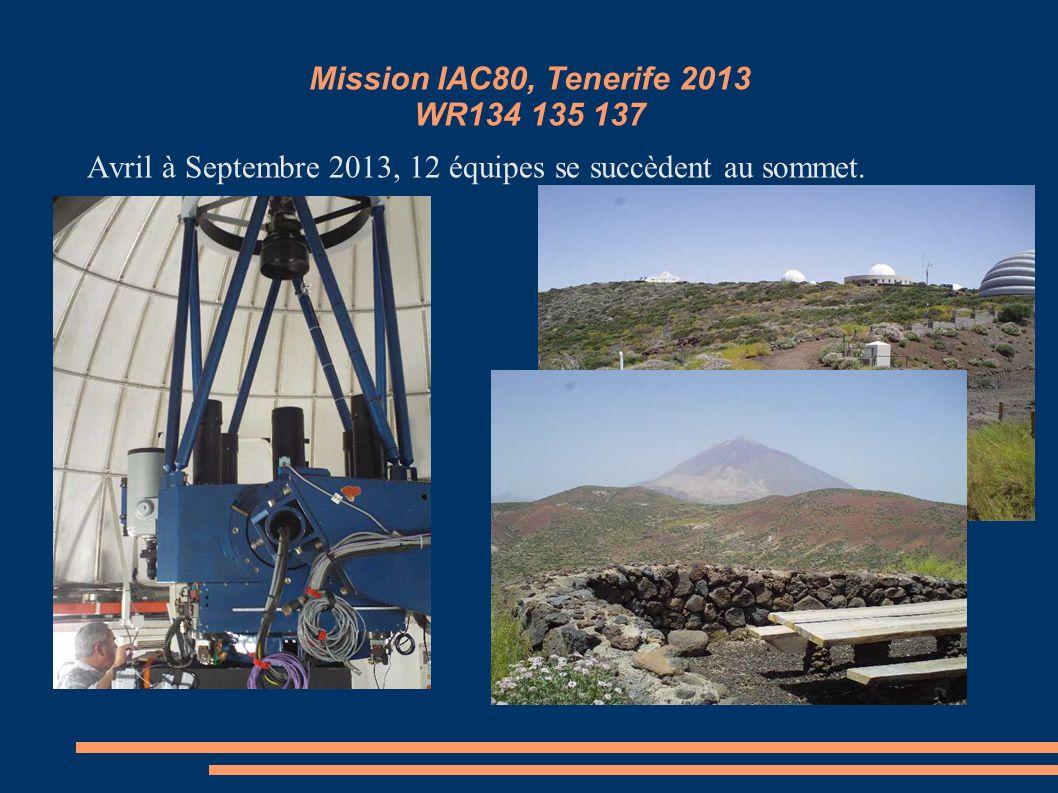 Mission IAC80, Tenerife 2013 WR134 135 137
