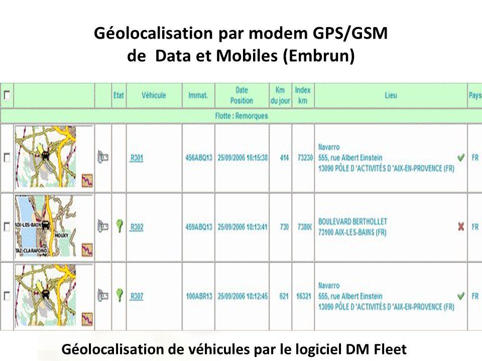 Géolocalisation par modem GPS/GSM de Data et Mobiles (Embrun)