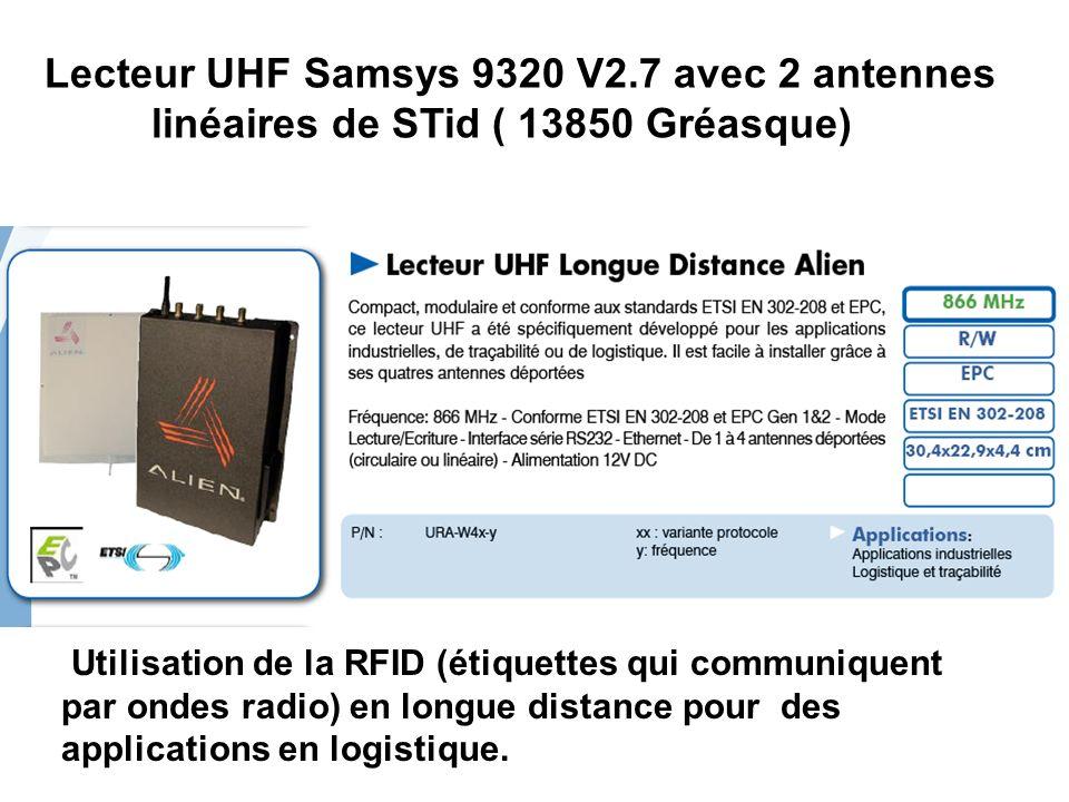 Lecteur UHF Samsys 9320 V2. 7 avec 2 antennes
