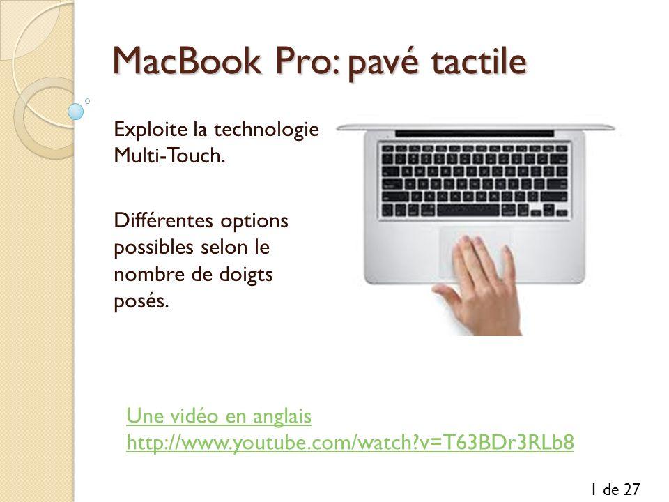 MacBook Pro: pavé tactile
