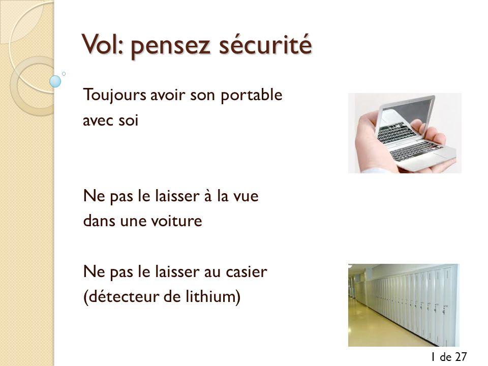 Vol: pensez sécurité Toujours avoir son portable avec soi