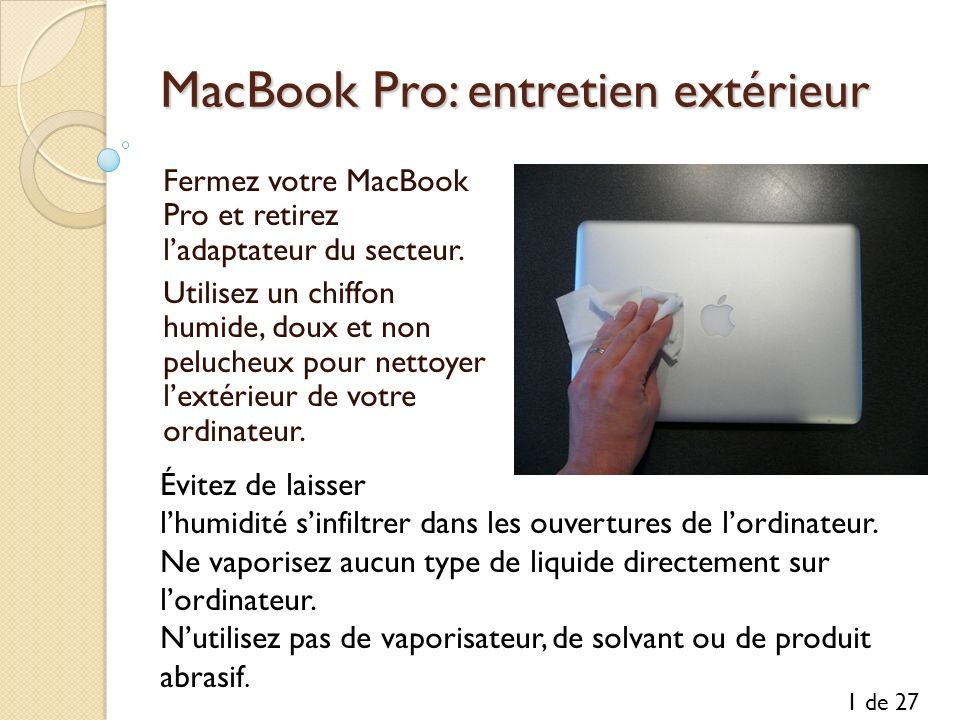 MacBook Pro: entretien extérieur
