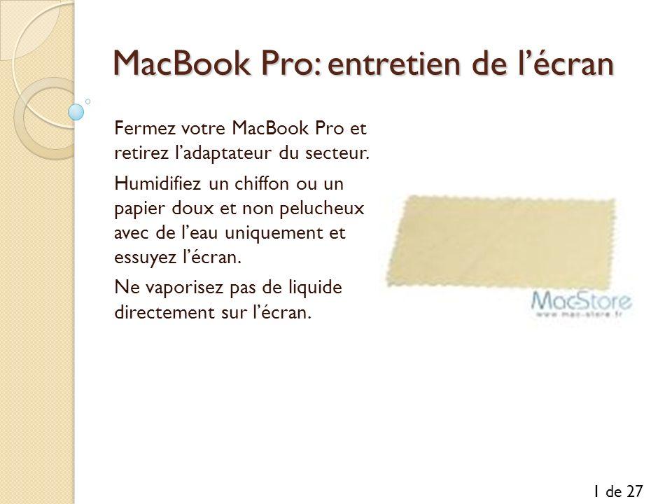 MacBook Pro: entretien de l'écran