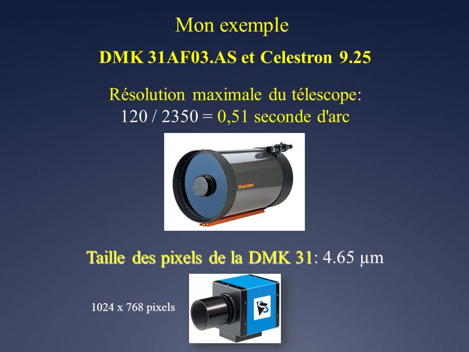 Mon exemple DMK 31AF03.AS et Celestron 9.25