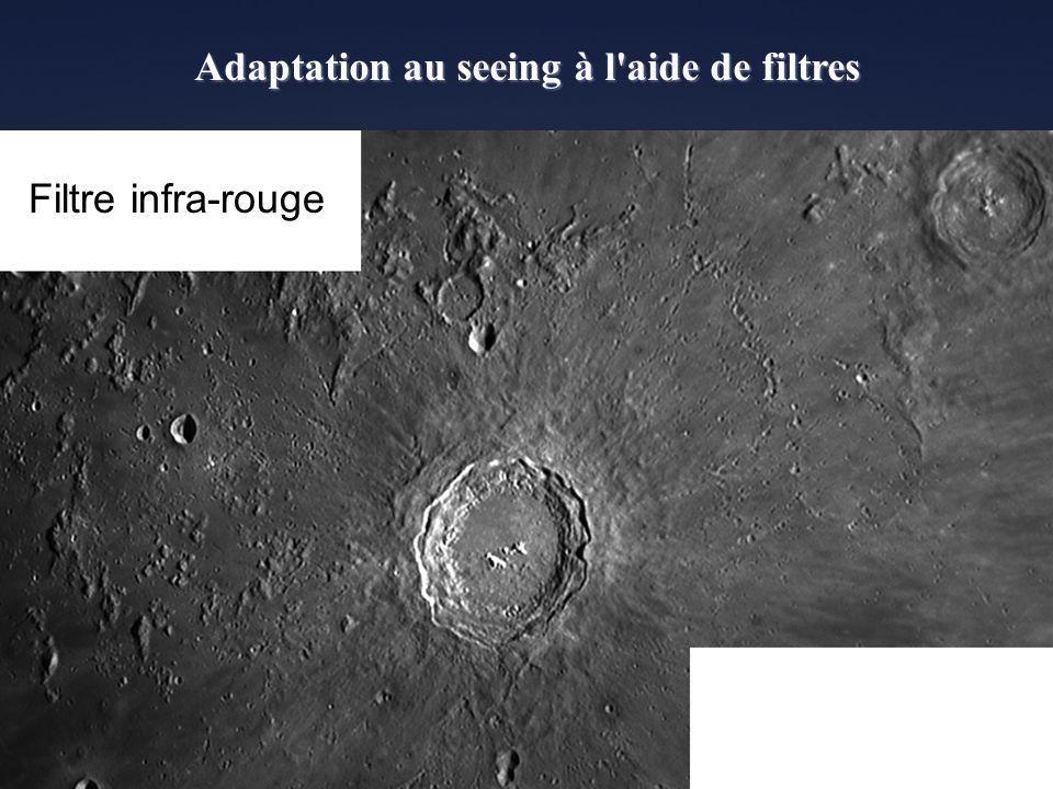 Adaptation au seeing à l aide de filtres