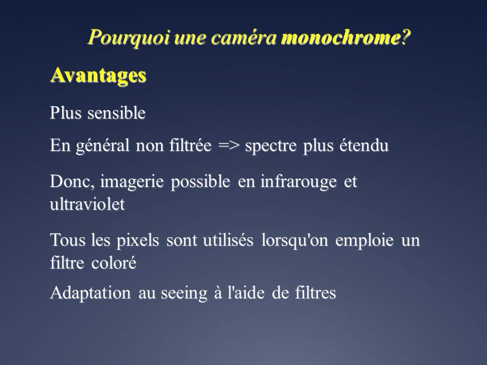 Pourquoi une caméra monochrome