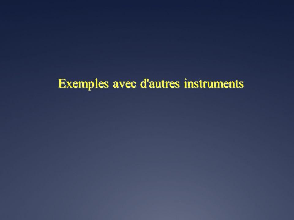 Exemples avec d autres instruments
