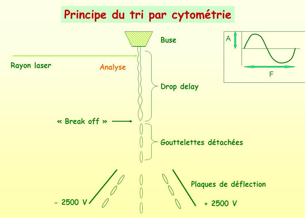 Principe du tri par cytométrie