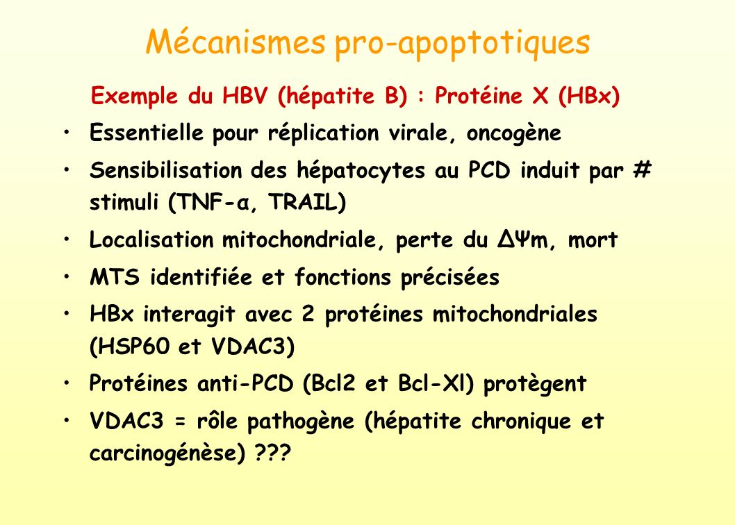 Mécanismes pro-apoptotiques