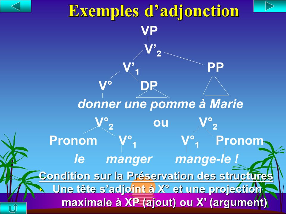 Exemples d'adjonction