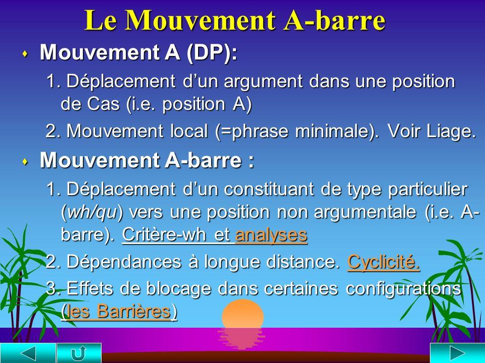 Le Mouvement A-barre Mouvement A (DP): Mouvement A-barre :