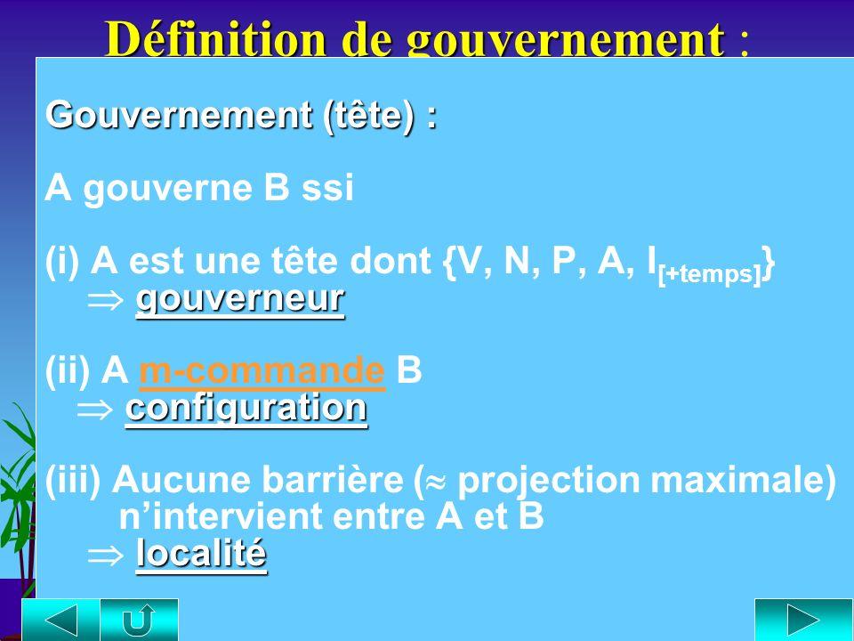 Définition de gouvernement :