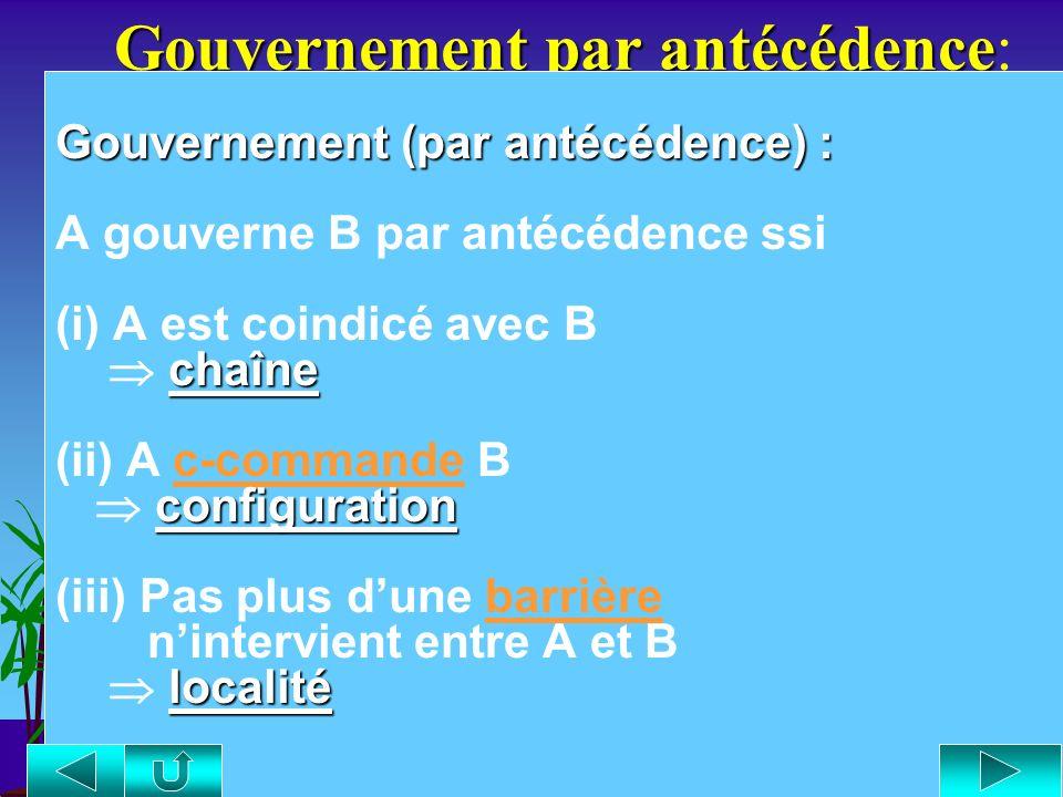 Gouvernement par antécédence: