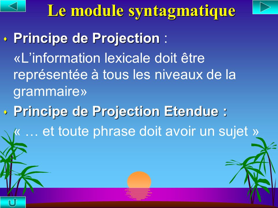 Le module syntagmatique