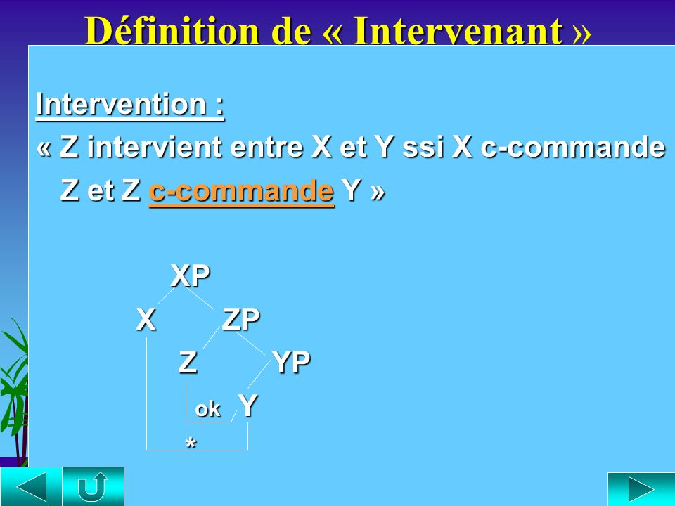 Définition de « Intervenant »