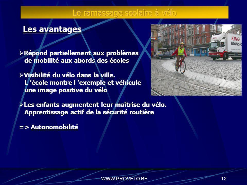 Le ramassage scolaire à vélo