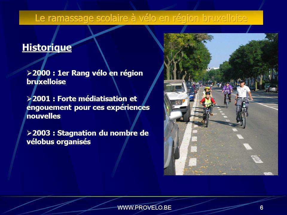 Le ramassage scolaire à vélo en région bruxelloise