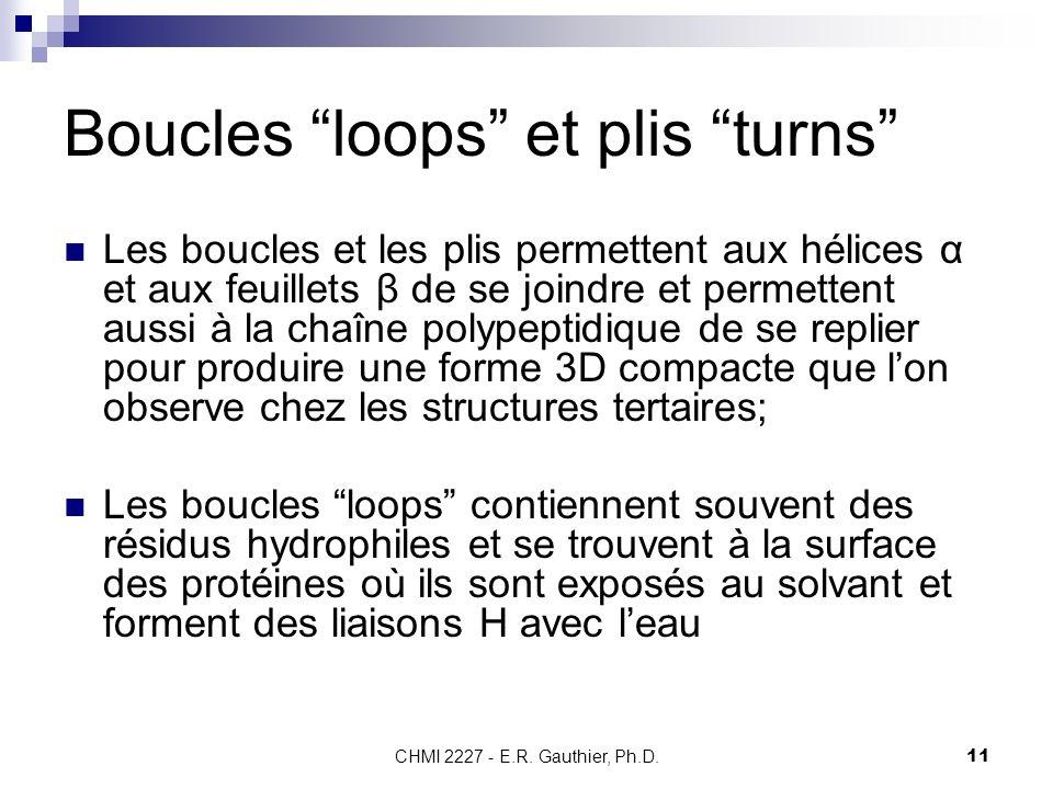 Boucles loops et plis turns
