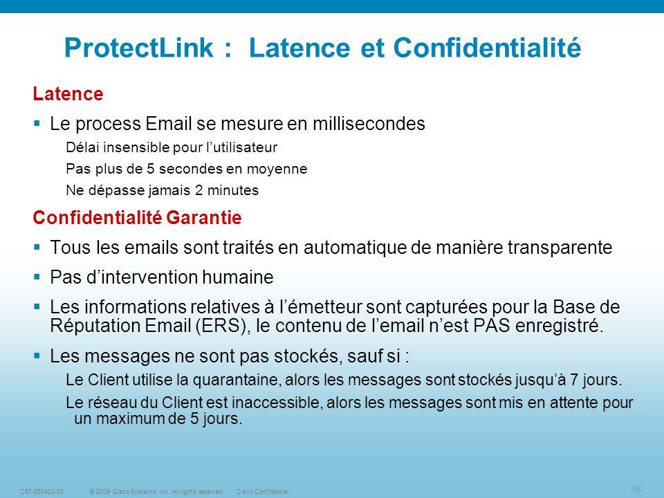 ProtectLink : Latence et Confidentialité