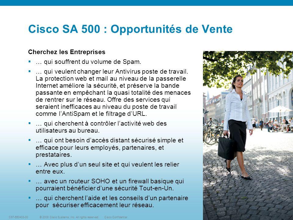 Cisco SA 500 : Opportunités de Vente