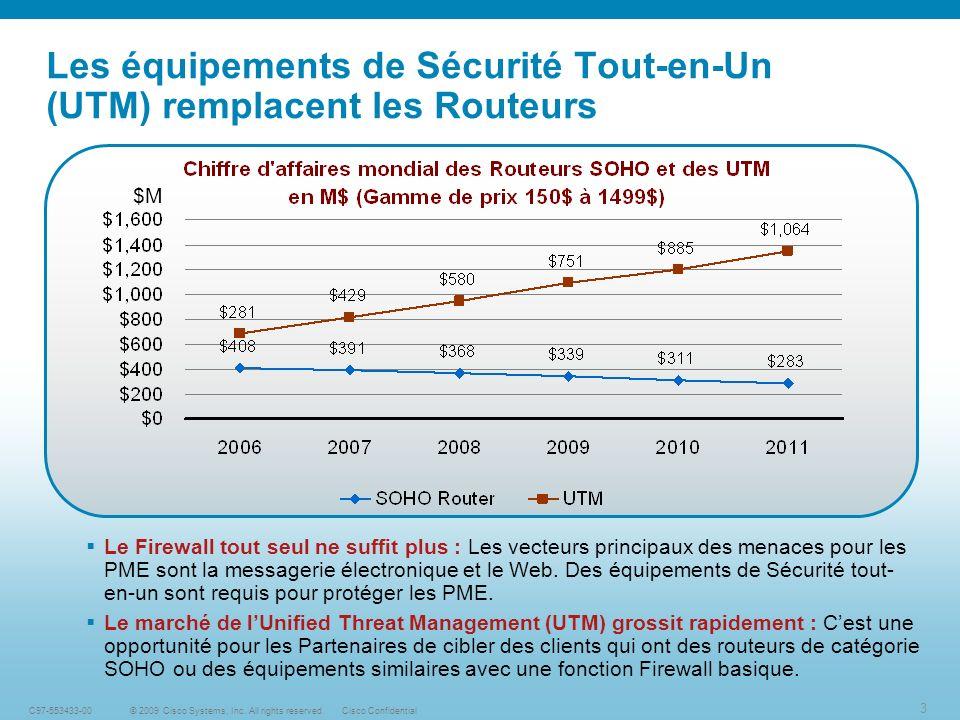 Les équipements de Sécurité Tout-en-Un (UTM) remplacent les Routeurs