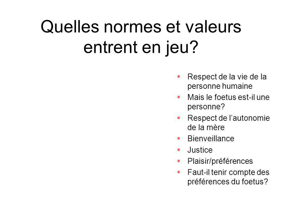Quelles normes et valeurs entrent en jeu