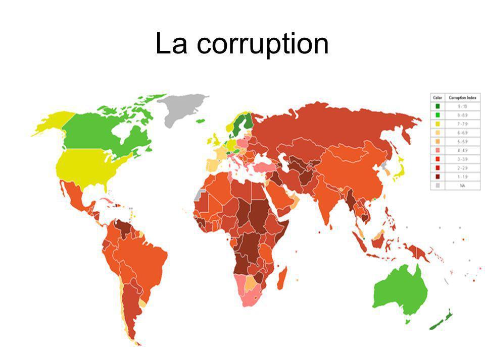 La corruption Selon Transparency Internationnal, la corruption est l'abus de pouvoir (reçu en délégation) à des fins privés.