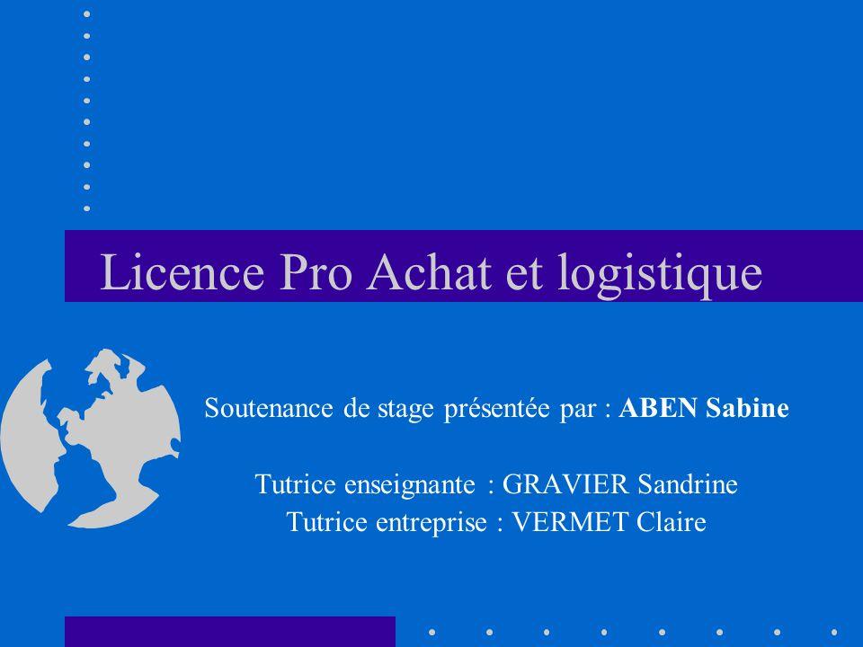 Licence Pro Achat et logistique