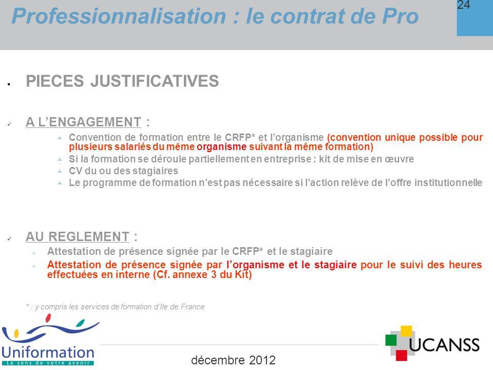 Professionnalisation : le contrat de Pro