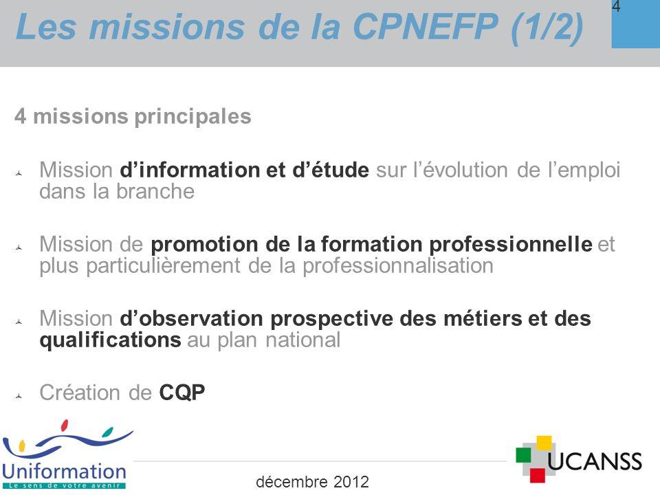Les missions de la CPNEFP (1/2)