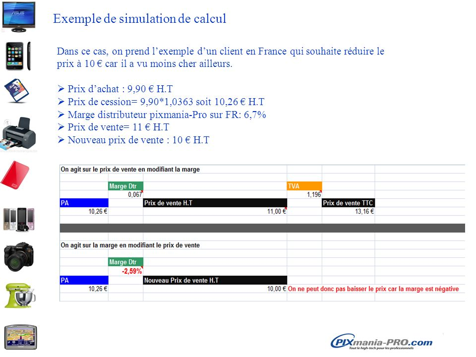 Exemple de simulation de calcul