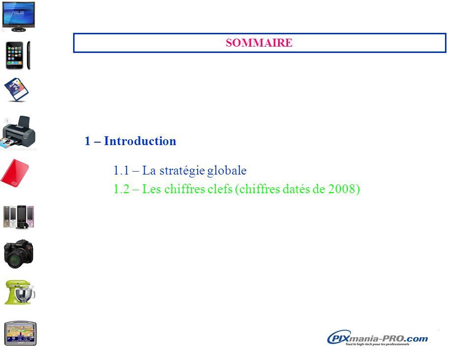 SOMMAIRE 1 – Introduction 1.1 – La stratégie globale 1.2 – Les chiffres clefs (chiffres datés de 2008)