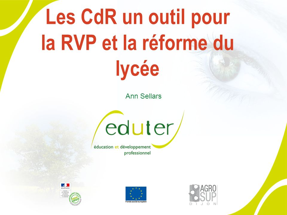 Les CdR un outil pour la RVP et la réforme du lycée