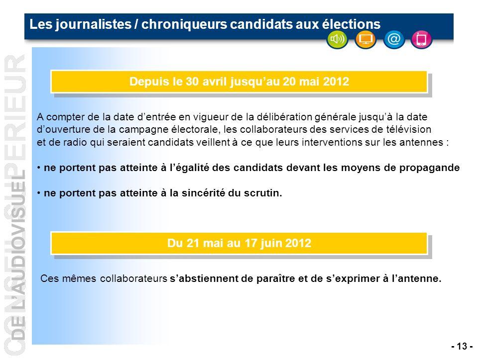 Les journalistes / chroniqueurs candidats aux élections
