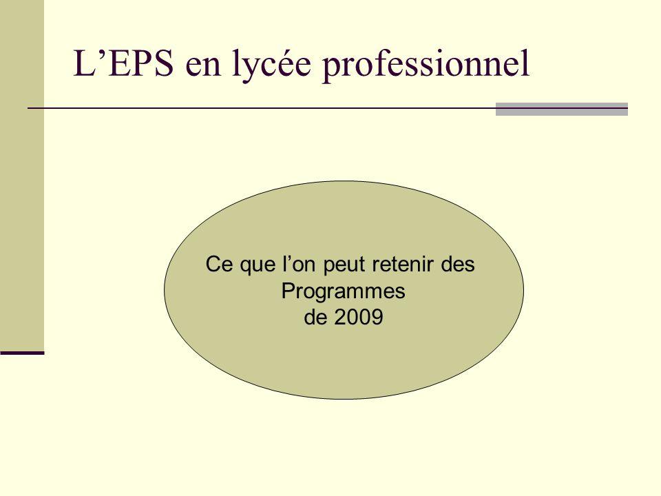 L'EPS en lycée professionnel