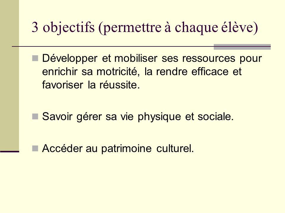 3 objectifs (permettre à chaque élève)