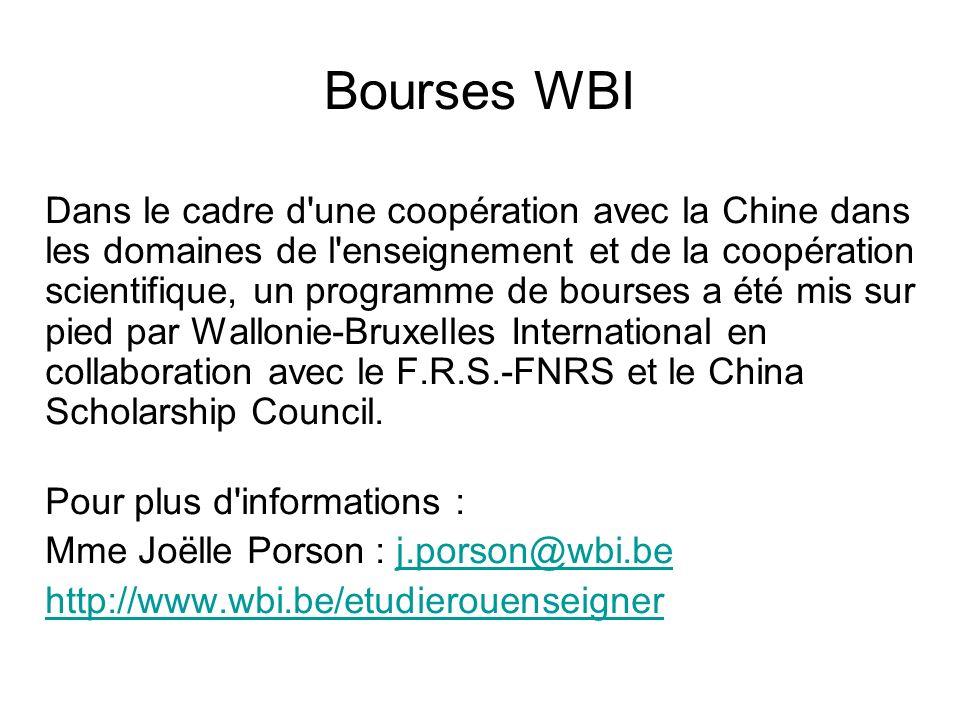 Bourses WBI