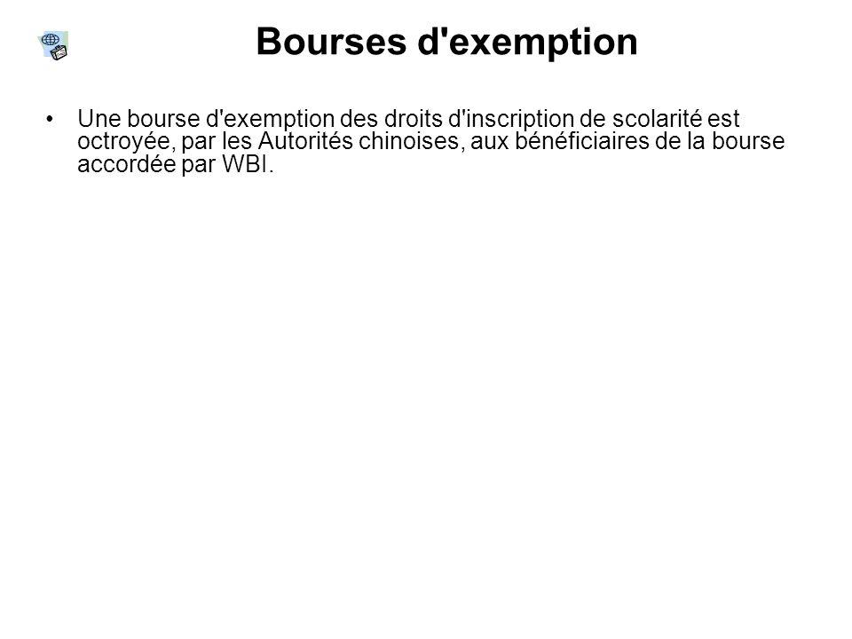 Bourses d exemption