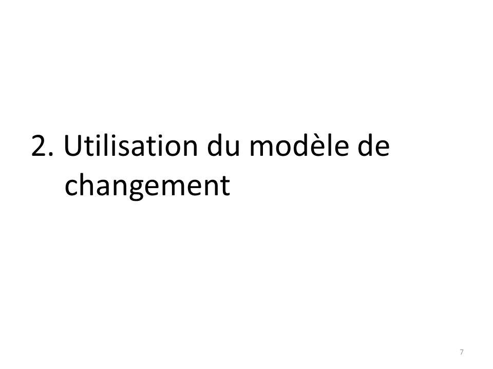 2. Utilisation du modèle de changement
